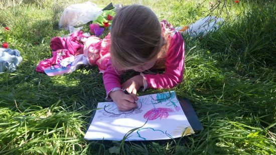 ציור בגן הילדים