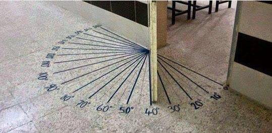 """הרשת הירוקה: למידה משמעותית, """"מד מעלות"""" על הרצפה בכניסה לכיתה"""
