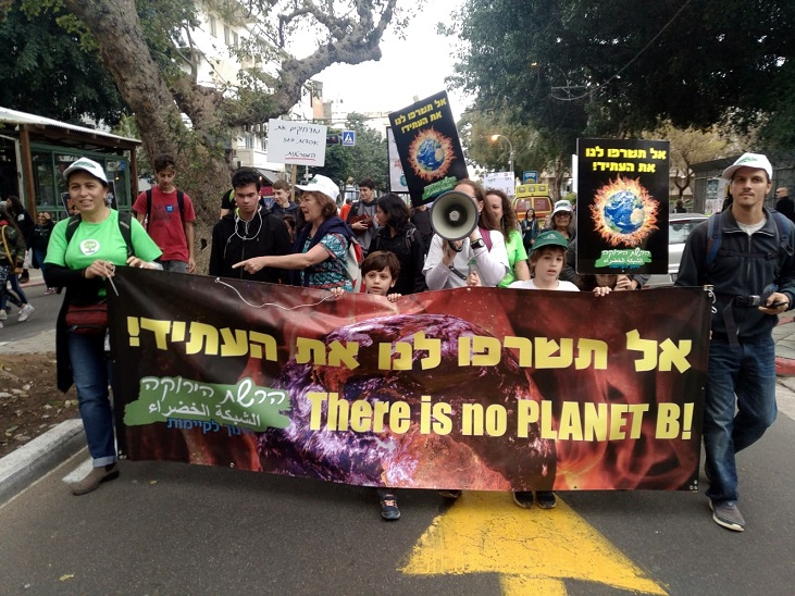 walking in the climate march
