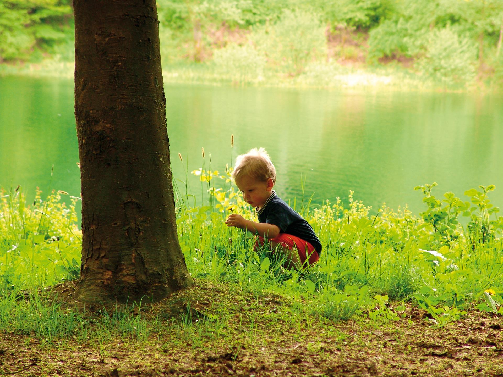 ילד בטבע