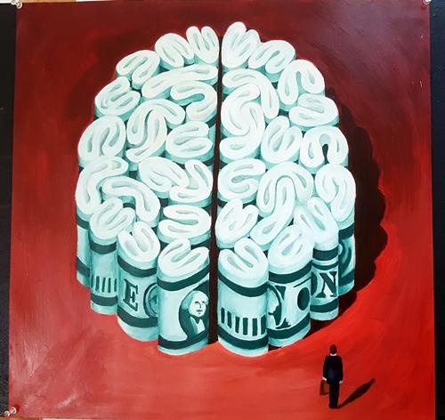 ציור של מוח מכסף