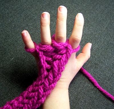 סריגת אצבעות לחיזוק השרירים