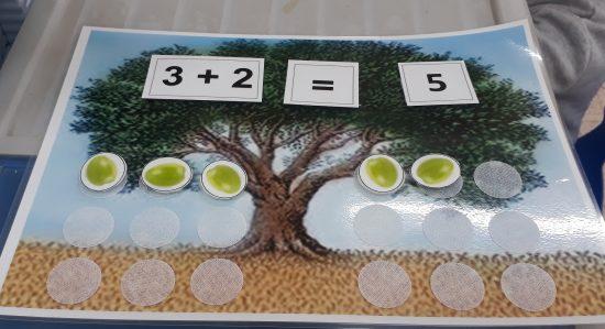 """משחק חשבון  """"עץ הזית"""""""