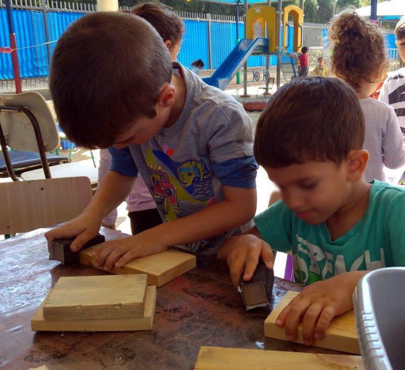 הרשת הירוקה: נגרייה בגן הילדים