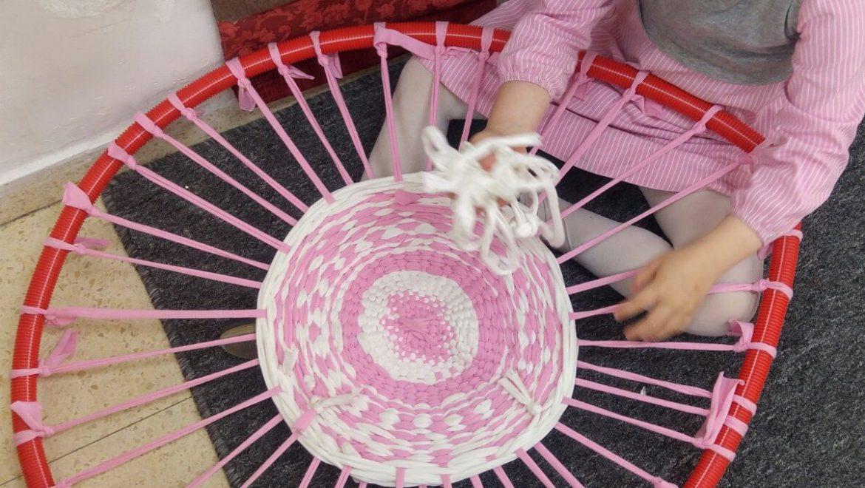 מלאכות בגן הילדים: אריגה