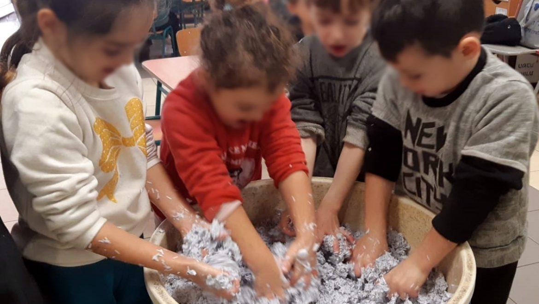 מלאכות בגן הילדים: נייר